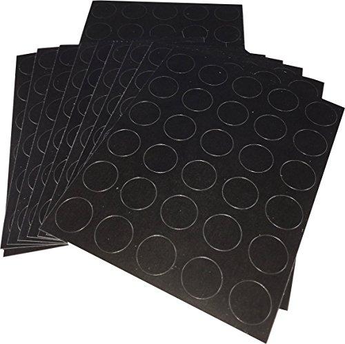 Negro Circulo Punto Pegatinas, 13 mm 1/2 Pulgada Redondo, 10 Hojas de 30 Pegatinas, 300 Etiquetas Totales