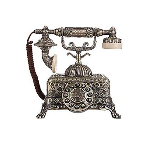 JDHFKS Antikes Telefon Vintage Retro Festnetz Haus Telefon Zu Hause Mobilteil Zifferblatt Zu Hause Und Im Büro Telefon Telefon Zu Hause Wohnzimmer Dekor-Bronze (Color : Button Style) - Bronze-wohnzimmer
