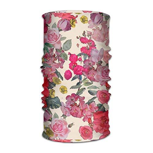 Qinckon Antique Floral Print(11474) Outdoor Wide Headband Elastic Seamless Scarf UV Resistence Sport Headwear for Men&Women Lacer Farm