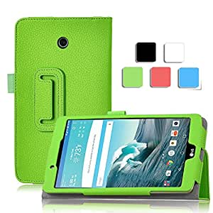 LG G Pad F 8.0 Case, IVSO LG G Pad F 8.0 Case - High Quality Leather Slim-Book Stand Cover Case-Will Only Fit [AT&T 4G LTE Model V495 and T-Mobile 4G LTE Model V496] Tablet (Green)