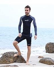 Veste de sport d'eau pour Split Combinaison Combinaison Méduse Ultra Légère plongée, plongée, surf, voile, canoë, kayak, plongée pour combinaison, haut et bas, UV Bain Maillots de bain L