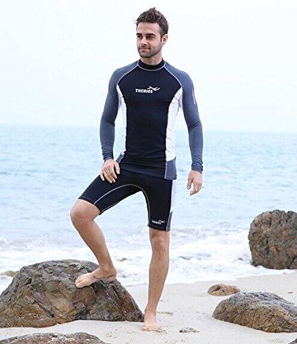 Herren Outdoor-Wasser Sport Split Overall Qualle Ultraleichte Schnorcheln Anzug, Tauchen Anzug, Surfen Anzug, Segeln, Kajak, Kanu Neoprenanzug Anzug, oben und unten, UV-Schwimmen Bademode