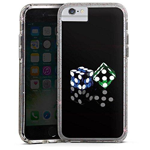 Apple iPhone 6s Bumper Hülle Bumper Case Glitzer Hülle Cube Spiel Game Bumper Case Glitzer rose gold