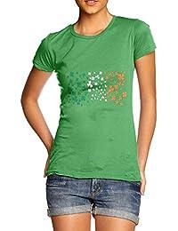 TWISTED ENVY Irish Clover Flag Women's Funny T-Shirt