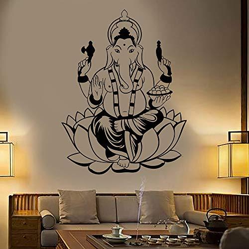 guijiumai Indien Hinduismus Elefantengott Ganesha Vinyl Wandtattoo Wohnkultur Wohnzimmer Kunstwand Wandaufkleber Geschenk schwarz 58x76 cm - Jamaika-geschenk-set