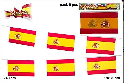 colorbaby-71759-streifen-spanische-flaggen-240-zentimeter-six-flags