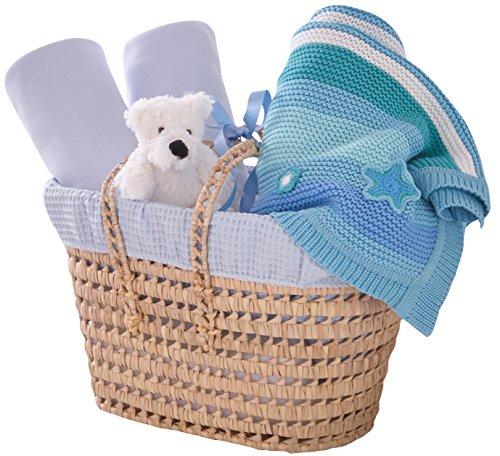 Clair de Lune - Set de regalo para el bebé, con cubiertas blandas y felpa, azul (azul)