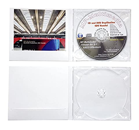 10 CD Digipack Hüllen, CD Kartonhüllen aus stabiler Karton weiß