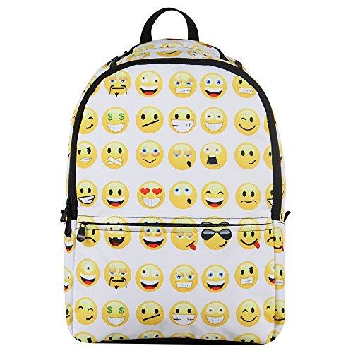 Imagen de veevan   escolar diseño smiley faces, color negro y blanco, tamaño large