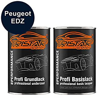 TRISTARcolor Autolack Set Dose spritzfertig Peugeot EDZ Emerald Crystal Metallic Grundlack + Basislack 2,0 Liter 2000ml
