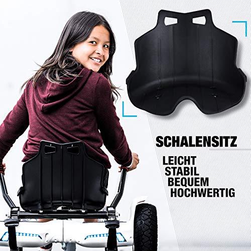 Bluewheel Hovokart HK200 Sitz Erweiterung für 6, 5 – 10 Zoll Hoverboard, E-Kart, Elektro Go-Kart, Sitzaufsatz, Schalensitz & Umbausatz, anpassbarer Stahl-Rahmen - 5