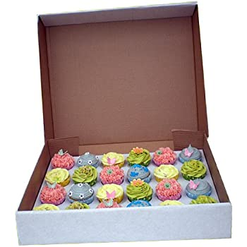 """4"""" DEEP Strong 24 Cupcake cup fairy cake muffin box with insert for 24 Cupcakes"""