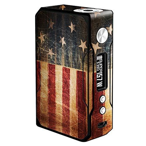 Aufkleber für VooPoo Drag 157W, Vinyl, Vintage-Motiv amerikanische Flagge, Rot/Weiß/Blau