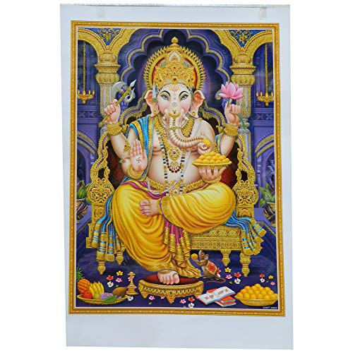Bild Ganesha 50 x 70 cm Gottheit Hinduismus Kunstdruck Plakat Poster Religion Spiritualität Dekoration - Ganesha-bild