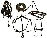 Derby Originals Mini Pferd Auto-Geschirr Premium Leder Set, Mini/Schwarz