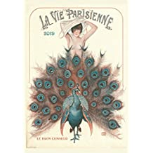 Calendario de Pared 2019 [12 páginas 20 x 11 Pulgadas] Georges Leonneca Art Deco Vintage La Vie Parisienne Erotica Magazine
