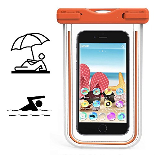 Smartphone Schutzhülle | Switel Cute S3510D | Wasserdichte | Staubdichte Handy Beachbag | HBB Orange