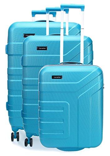 Travelite Set de bagage 'Vector' 3 pcs turquoise Koffer-Set, 77 cm, 110 liters, Türkis (Turquoise)