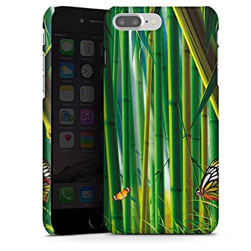 Apple iPhone X Silikon Hülle Case Schutzhülle Bambus Schmetterlinge Natur Premium Case glänzend