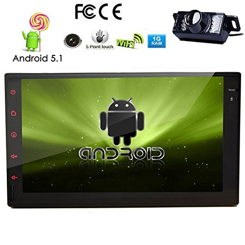 Telecamera posteriore Incluso !!! Android 5.1 Quad-Core CPU da 7 pollici Car PC Tablet None-Lettore DVD Radio 2 DIN schermo capacitivo in-dash navigatore GPS Bluetooth, navigazione GPS-Ready, RDS, Wi-Fi