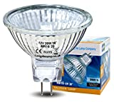 2 x LONG LIFE MR16 20w Halogen Bulbs GU5.3 Lamp 12v Halogen with Aluminium Reflector