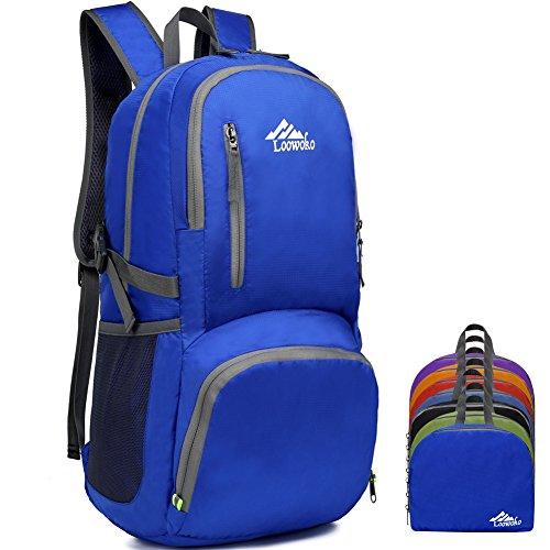 Wanderrucksack 50L, Rucksack Reiserucksack Backpacker Rucksack Mit Regenabdeckung Für Outdoor (Blau) (Blue)
