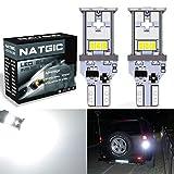 Ampoule LED NGCAT T15921- 1 800lumens - 10SMD - Ampoules LED 3020 CREE 912 T10 W16W utilisées pour les feux de marche arrière extérieurs d'automobile,10-16 V CC, blanc xénon (lot de 2).