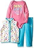 PUMA Girls' 3 Piece Vest, Bodysuit, Pant...