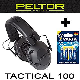 Original PELTOR USA elektronischer AKTIV Gehörschutz Kopfhörer TACTICAL 100