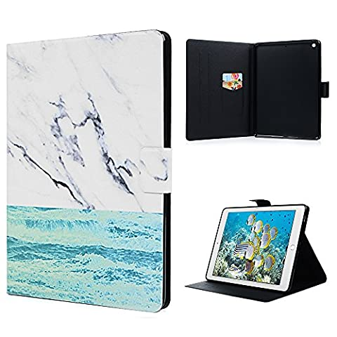 iPad 9.7 inch 2017 Case, Kasos iPad 9.7 Smart Cover [Auto Sleep / Wake] PU Leather Flip Wallet Purse Case with Card Slots TPU Bumper Lightweight Note Holder Shockproof Protective Case [Drop Scratch Protection] for iPad 9.7 inch 2017