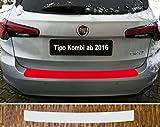 passgenau für Fiat Tipo Kombi, ab 2016 Lackschutzfolie Ladekantenschutz transparent