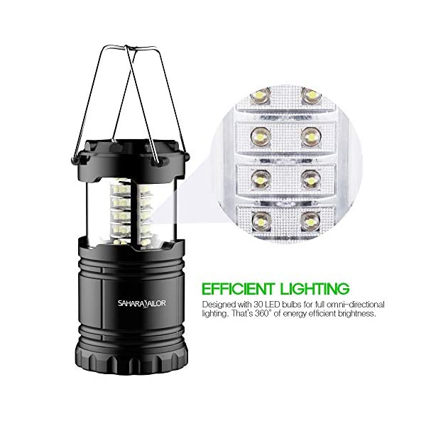[2 PACK] Camping Lantern- Sahara Sailor Ultra Bright LED Lantern- Collapses - Suitable for: Hiking, Camping, Emergencies, Hurricanes, Outages - Super Bright - Lightweight - Water Resistant 3