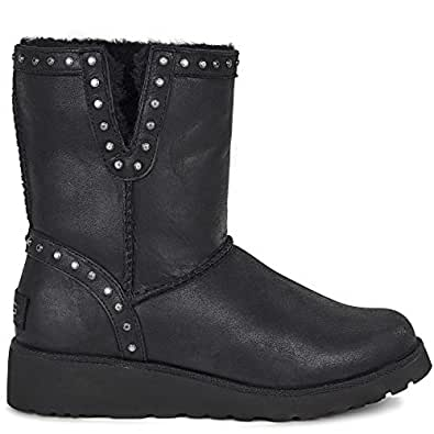 Ugg Australia Women's Cyd Leather Women's Leather Boots In Black In Size 37 Black