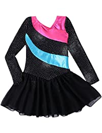 Mallot de Ballet Danza con tutú para Chica Vestido sin Mangas con Rayas fddd26378002