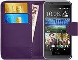 G-Shield Hülle für HTC Desire 620/620g Klapphülle mit Kartenfach - Lila