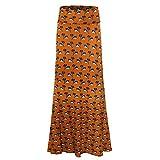 Xmiral - Damen - Strandrock mit hoher Taille, figurbetontes langärmliges Maxi-Abendkleid(3XL,Mehrfarbig 10)
