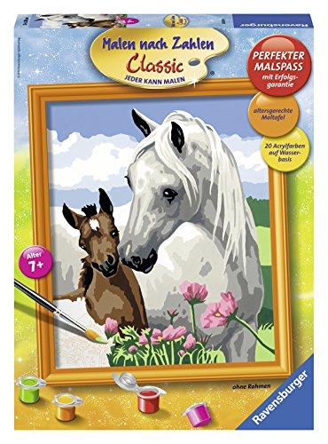 Imagen principal de Ravensburger 28393  - Set de pintar por números dibujo de dos caballos (30 x 24 cm) [Importado de Alemania]