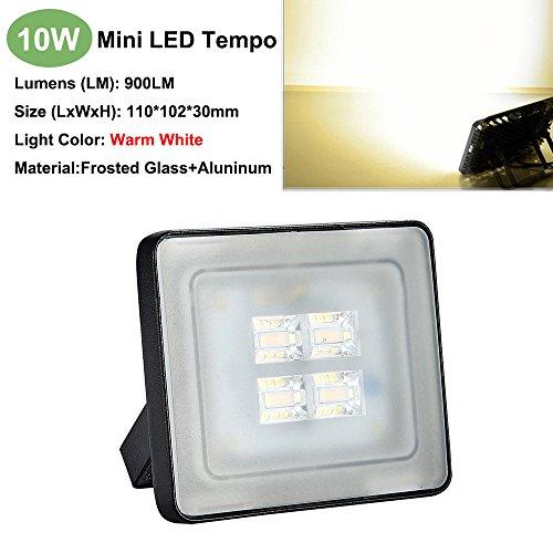 Flut-Licht-Befestigungen im Freiensicherheits-Stellen-Beleuchtung 10W warmes Weiß 3000k LED AC110V 900-1000LM ip65 (10 Stücke)