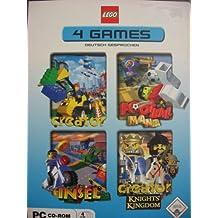 LEGO 4 PC GAMES : Creator / Football Mania / Insel / Creator Knights Kingdom
