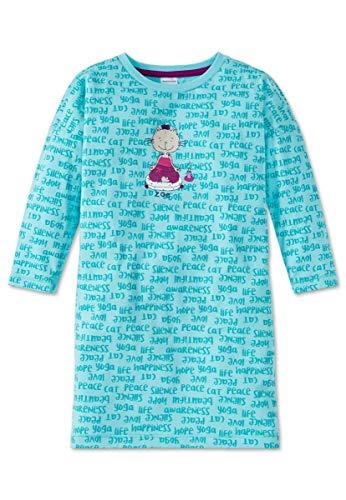 Schiesser Mädchen Nachthemd Langarm 159257, türkis, 98 -