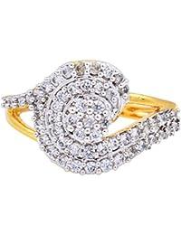 Florishkart Gold Plated Cz & American Diamond Studded Ring For Womens