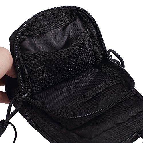 OneTigris Taktische Molle Hüfttasche / Gadget Pouch EDC Zubehörtasche Schwarz