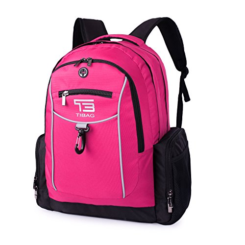 TB tibag Business Wasserabweisende Laptop-Computer Rucksack/Tablet Tasche – Passt von 15 bis 41,9 cm Laptops, Notebook, Macbook und Tablets mit extra Fach für iPad rose (Girly Bag Tote Lady)