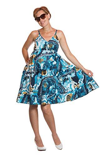 Petite robe estivale «Australia» - très élastique, 100% coton Bleu