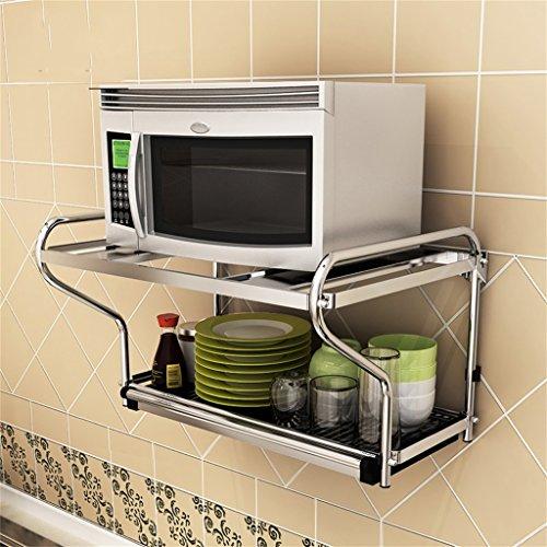 AIDELAI Schweberegale Hängeregale Edelstahl Mikrowelle Ofen Rack Wand Hängende Wand an der Wand Küche Regal Ofen Rack Anhänger Pylon -