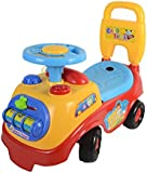 LIVIVO ® My First Ride On and Push Along Buggy Car Colourful First Steps Toddler Walker Learning Toy with Sounds and Accessories