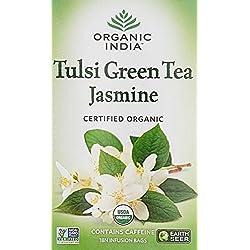 Organic India Tulsi Green Tea Jasminne - 18 Tea Bags