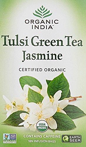 Organic India Tulsi Green Tea Jasminne - 18 Tea Bags  available at amazon for Rs.147