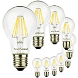 SunSeed® 10x Glühfaden LED classic Lampe E27 8W ersetzt 75W Neutralweiß 4000K