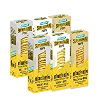 ONTHERUN Supergrain Pops| Party Pack| Sorghum, Millet & Rice | No Oil Spray, Not baked, Not Fried - Just Popped | Healthy & Crunchy Snack (Pack of 6 X 45 g each)